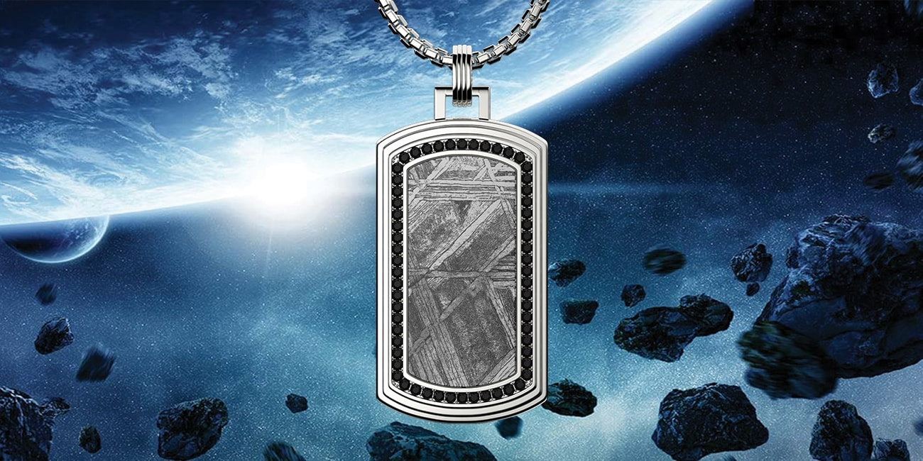 Meteorite Pendant hanging in space