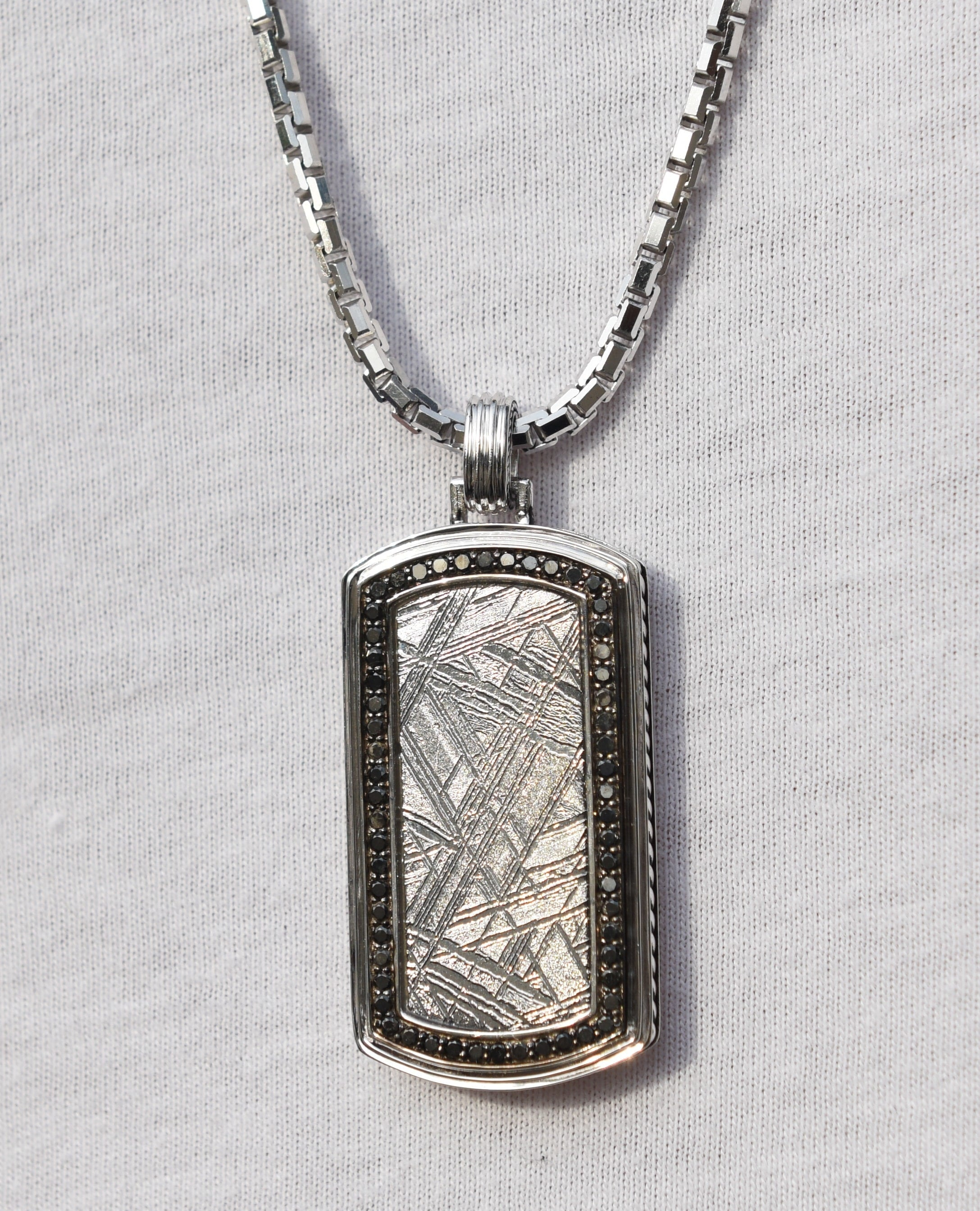 meteorite pendant necklace