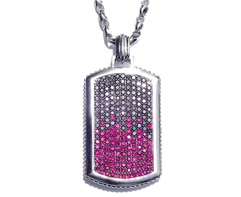 Black Diamond & Ruby Pendant