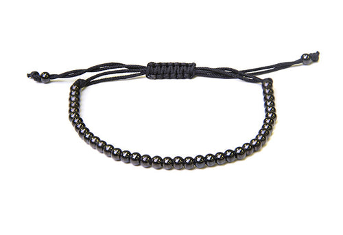 Victory Bracelet With Black Titanium/Gold Plated Beads