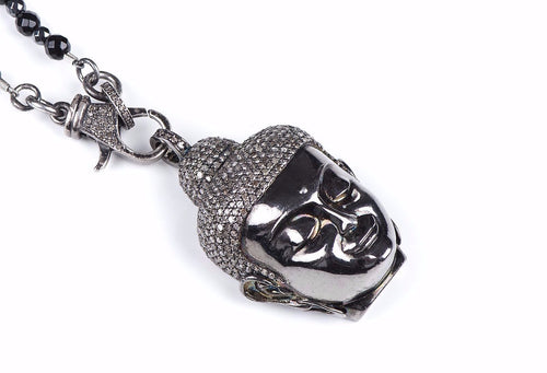 Buddha Diamond Pendant & Chain