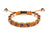 Brown Python Leather Flat Bead Bracelet