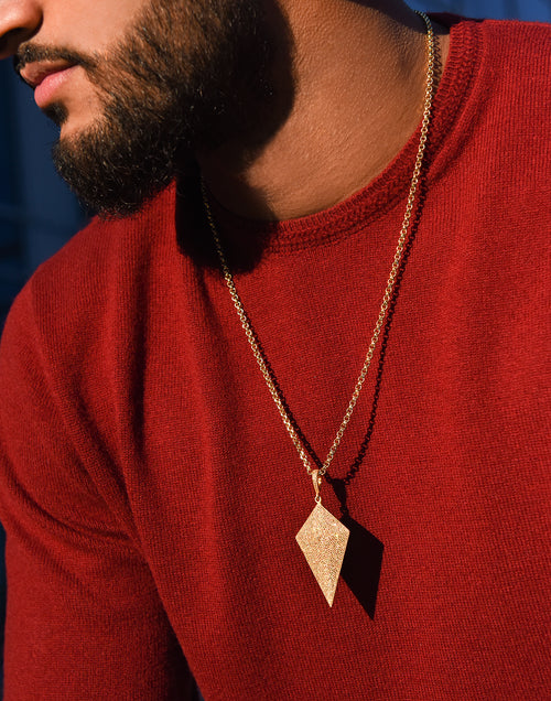 Arrow Head Diamond Pendant & Chain