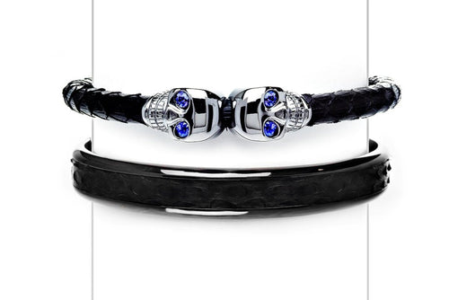 Cuff Set in Black & Sapphires