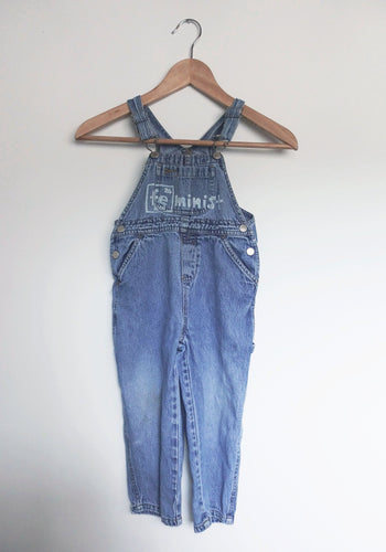 Upcycled Kids 3T Vintage Denim Overalls