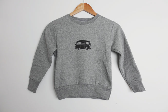 vw camper van kids sweatshirt