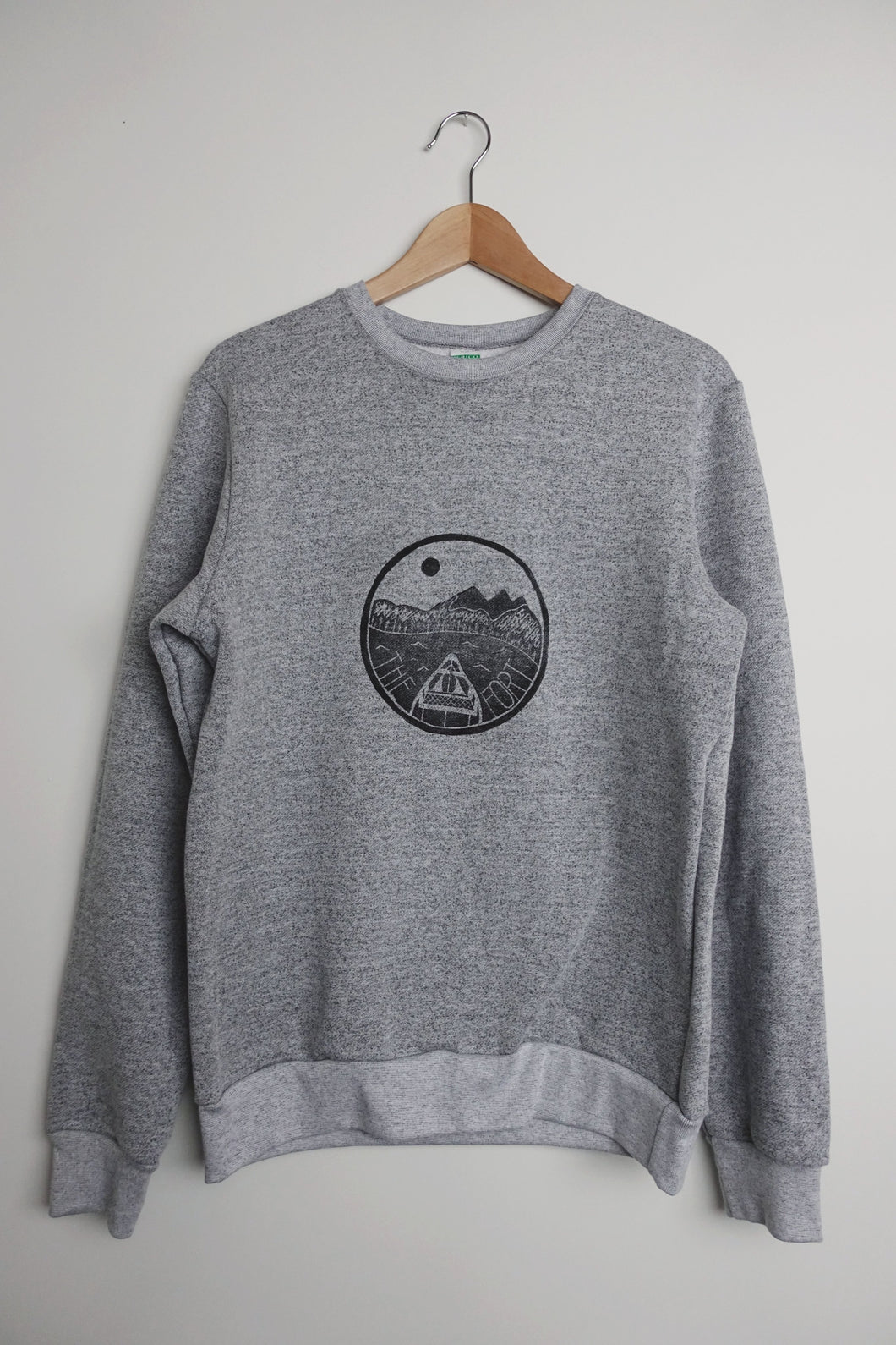 the fort unisex light grey melange sweatshirt