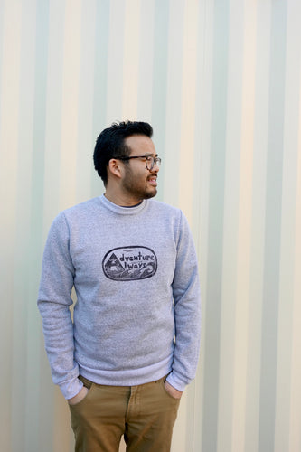 Adventure Always Unisex Melange Sweatshirt