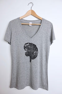 women's v-neck bamboo tee