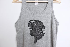 re-wired unisex bamboo tank