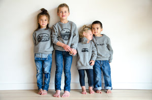 vw camper van kids crew neck sweatshirt