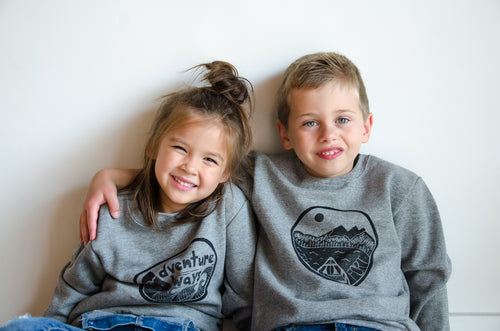 the fort kids crewneck sweatshirt