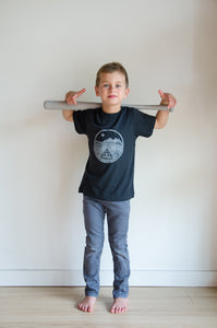 the fort kids bamboo charcoal tee