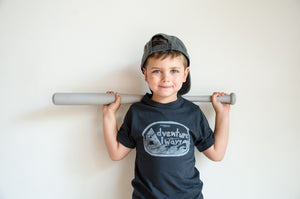adventure always bamboo kids tee
