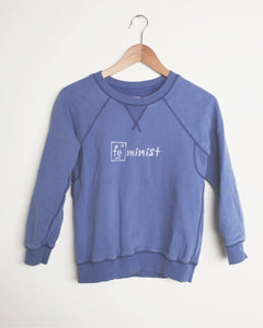 Upcycled Women's XS Sweatshirt - Iron Feminist