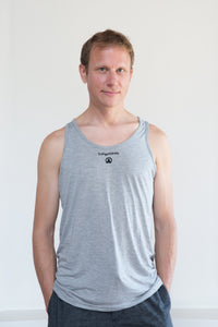 DoYogaWithMe Unisex Bamboo Tank Heather Grey
