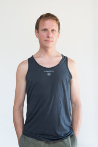 DoYogaWithMe Unisex Bamboo Tank Charcoal Grey