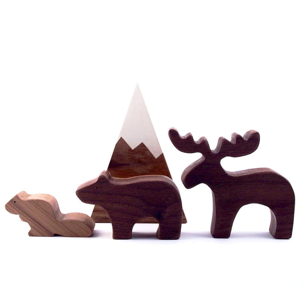 Wooden Animal Playset