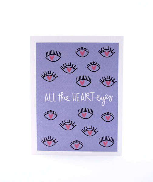 All the Heart Eyes Card by Pixel Paper Hearts