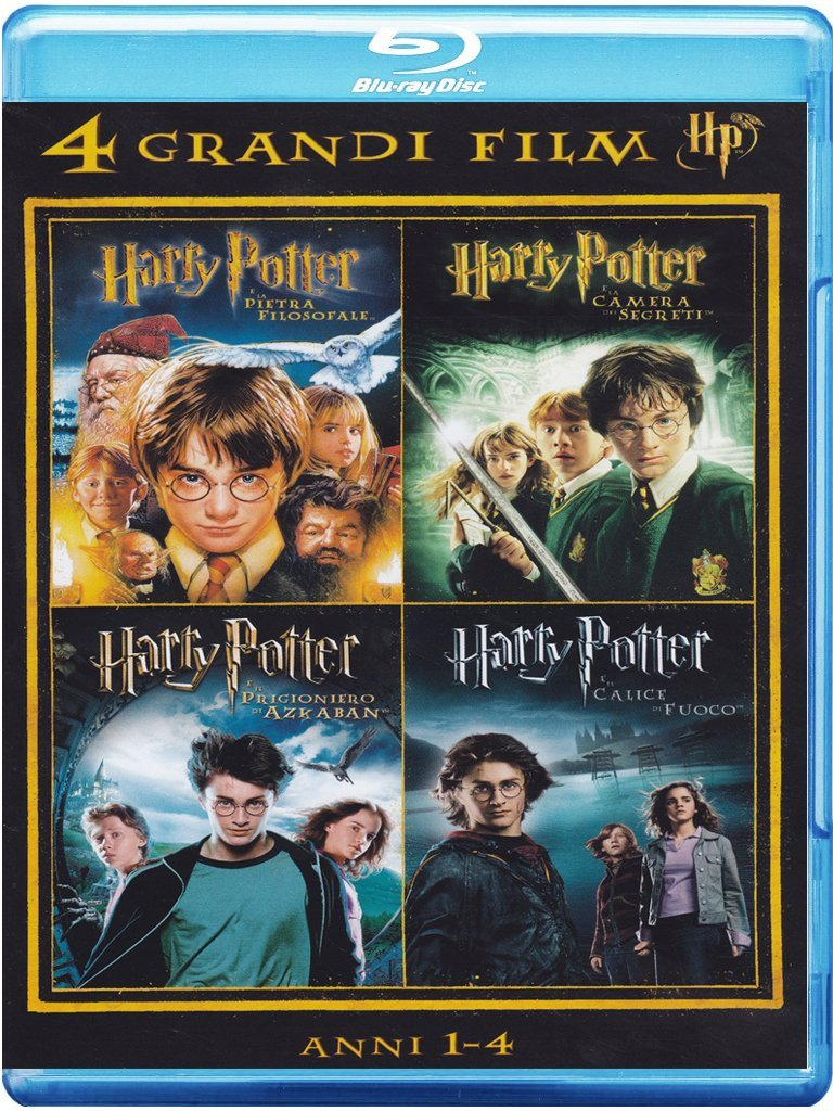 4 grandi film - Harry Potter - Anni 1-4 - Volume 01 (4 Blu-Ray)