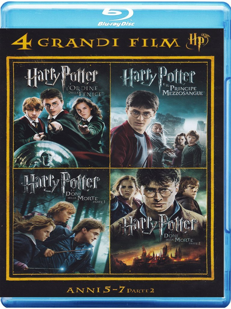 4 grandi film - Harry Potter - Anni 5-7 - Volume 02 (4 Blu-Ray)