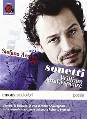 Sonetti letto da Stefano Accorsi. Audiolibro. CD Audio formato MP3
