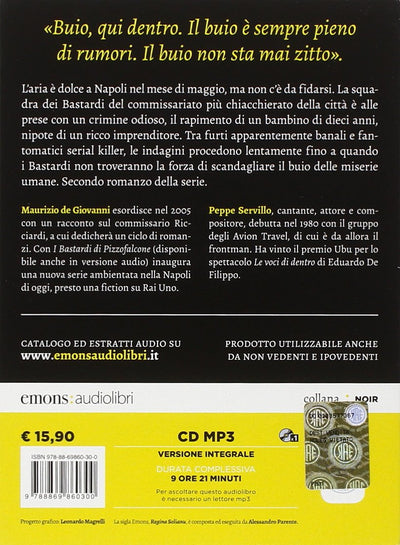 Buio per i Bastardi di Pizzofalcone letto da Peppe Servillo. Audiolibro.. Audiolibro. CD Audio formato MP3