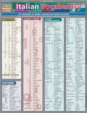 Italian Vocabulary (Quickstudy Reference Guides - Academic)