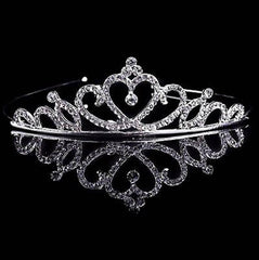 Bridal Wedding Hair Accessories: Heart Tiara