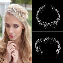Bridal Hair Accessories: Delicate Crystal Tiara Hairband