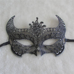 Silver Lace Halloween Mask
