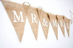 Mr and Mrs Hessian Bunting