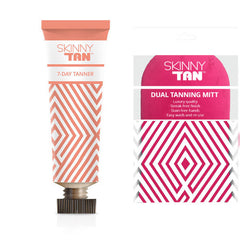 Skinny Tan 7 Day Tanner + Double Sided Tanning Mitt Light/Medium