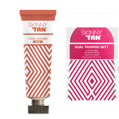 Skinny Tan 7 Day Tanner  DARK + Double Sided Tanning Mitt