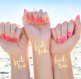 Bride Tribe Gold Foil Temporary Tattoos