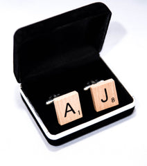 Handmade Scrabble Cufflinks