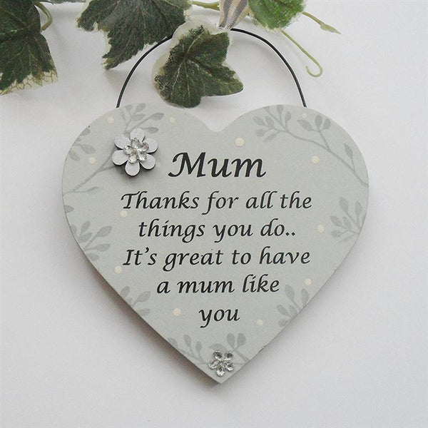 Mothers Day 3-D Floral Hanging Heart