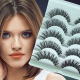 5 pairs Black False Eyelashes 1.2cm Length