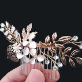 Gold leaf Clip In Bridal Pin