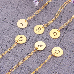 Gold/Silver Initial Charm Necklace