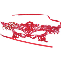 Red Lace Masquerade Mask