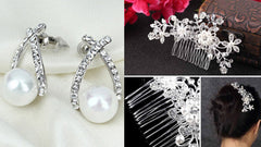 Wedding Hair Accessories and Earrings Bundles