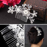 Bridal Hair Accessories: Clip in Pearl Comb