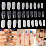 20 pcs Fake Nails Clear French Manicure nails