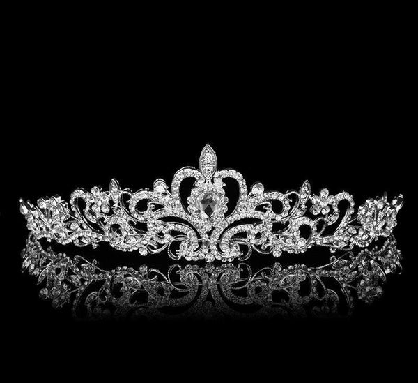 Bridal Wedding Hair Accessories: Silver Tiara
