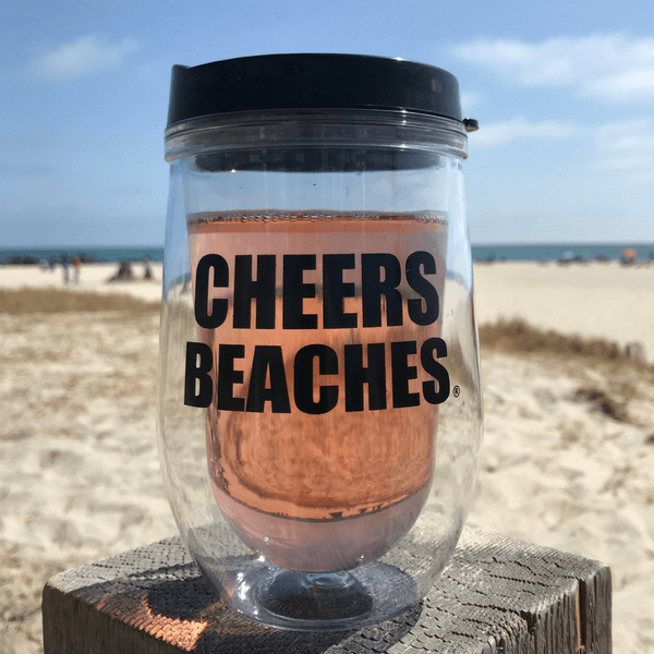 Cheers Beaches Accessories Cheers Beaches 16 oz. Double Walled Bold Travel Glass.