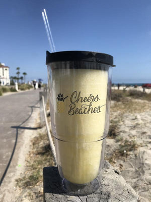 Cheers Beaches Accessories Cheers Beaches 24oz. Double Walled Pineapple Tumbler.