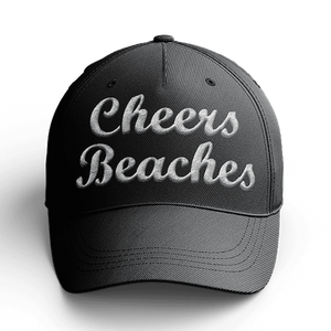 Cheers Beaches Accessories Cheers Beaches Black 3-D Embroidered Hat