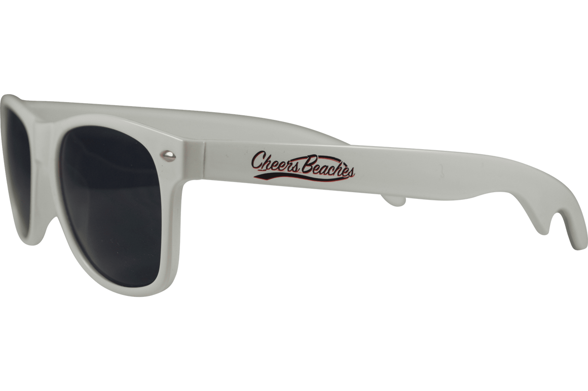 Cheers Beaches Accessories Cheers Beaches Bottle Opener Sunglasses: White