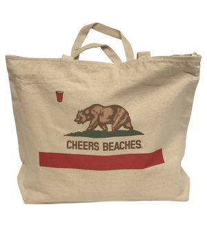 Cheers Beaches Accessories Cheers Beaches California Bear Tote Bag
